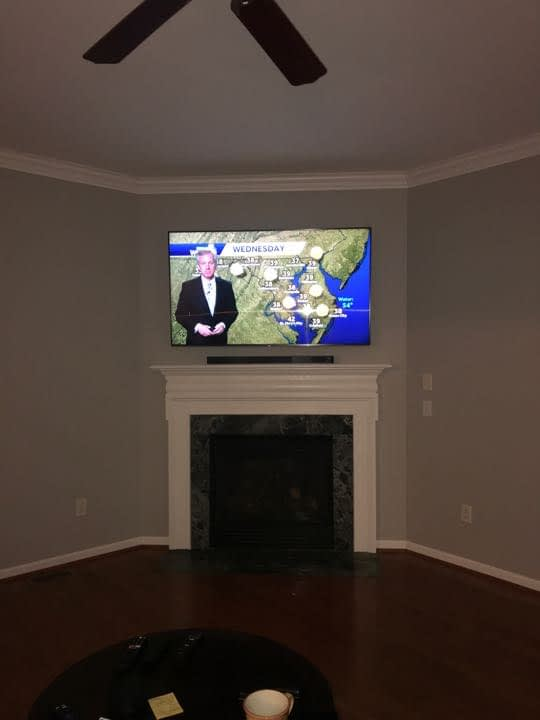 Fireplace TV Installation | Residential | TV installation & mounting Services | NextDayTVinstall.com